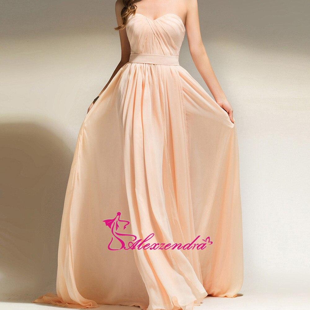 Alexzendra Sweetheart A Line Chiffon Long   Prom     Dresses   Simple Party   Dresses   Plus Size
