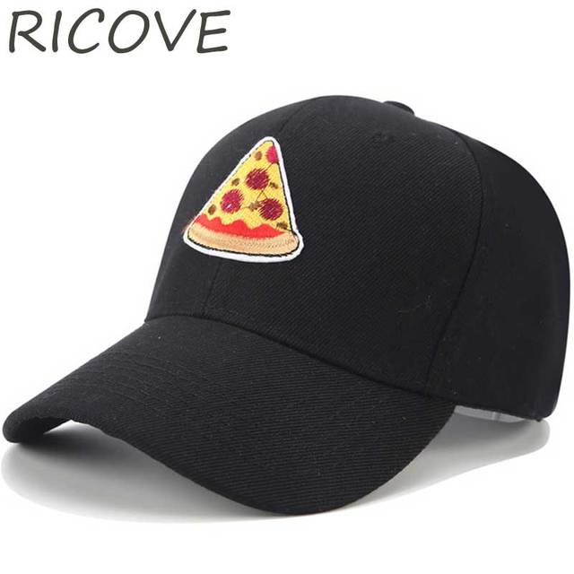Dad Hat Funny Pizza Baseball Cap Adjustable Harajuku Snapback Hip Hop Hats  For Women Men Casual Black Trucker Caps Summer Visor e7768f82be9