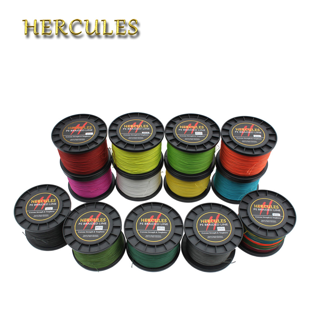 Hercules PE Braided Fishing Line Tresse Peche 200LB 1000M 8 Strands Saltwater Carp Fishing Materiel de Peche 13 Color Fishing цена и фото