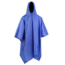 3 in 1 Waterproof Man Raincoat Outdoor Travel Rain Poncho Jackets Backpack Awning Rain Cover with Carry Bag Poncho Rain Gear