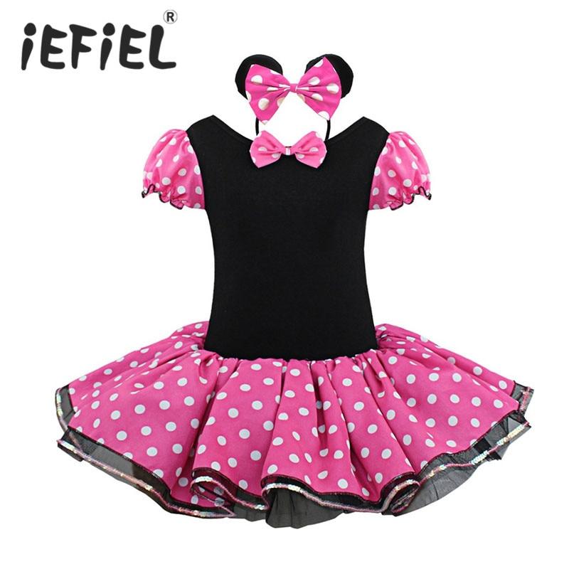 Iefiel Kids Girls Ballet Dress Dotted Christmas Gift