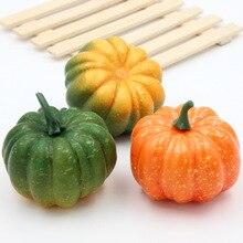 2 шт. 8,5*5,3 см искусственные тыквы фрукты преобразования сад Семья Кухня детский сад ручной работы DIY украшения фрукты
