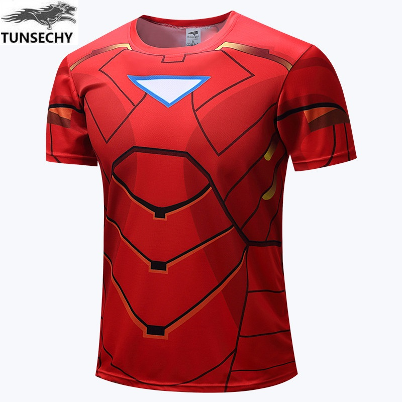 Avengers Flash man Hulk Batman t shirt men 2017 women boys short sleeve jersey super hero clothing T-shirt kids XS-4XL