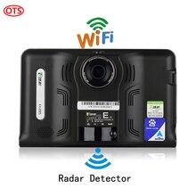 7 cal GPS Android Nawigacja GPS DVR Video Recorder 8G czujnik Radarowy Internet WiFi FM Transmisji Ciężarówka Samochodów Pojazdów GPS Navigator