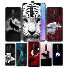 Silicone Case for Xiaomi Redmi K20 Pro K20Pro Mi 9T RedmiK20 9 Shell Cell Moblie Phone Fierce Snow Wolf Painted(China)