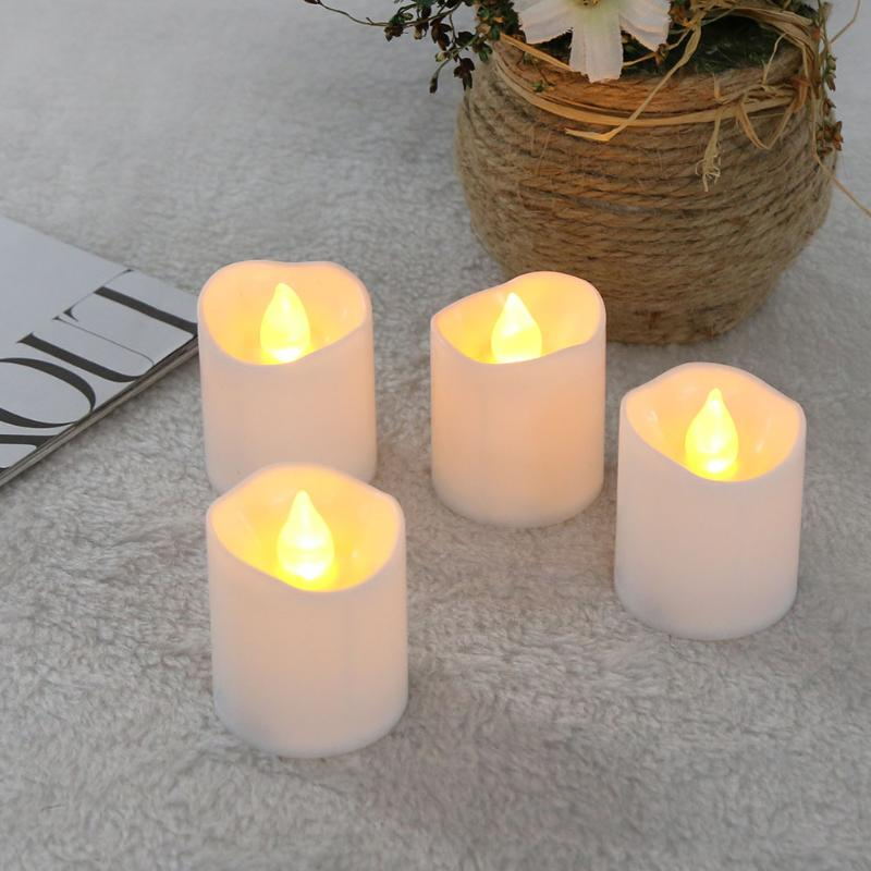 24pcs Battery Operated Flickering Light Flameless LED light Yellow Tea Candles Holiday Party Wedding Home Decorative Light