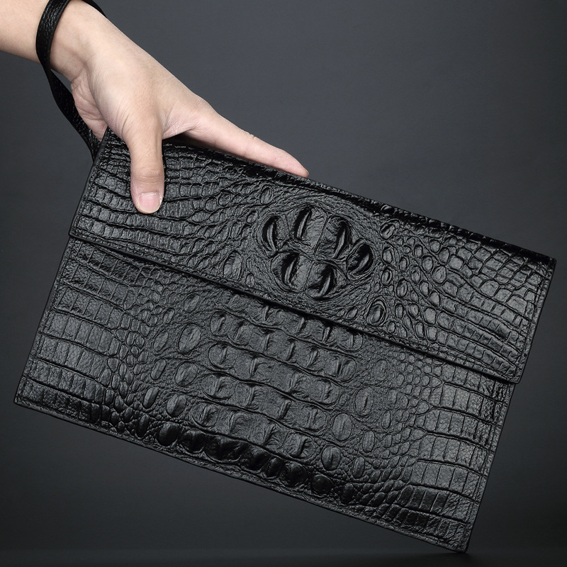 day clutches bags for man alligator crocodile phone genuine cow leather wallet Fashion business