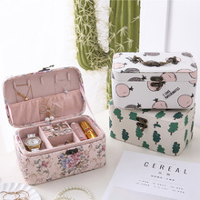 Professional Makeup Organizer Box Travel Portable Makeup Nail Tool Case Storage Box Retro Cosmetic Bags for Women Make Up Pouch new arrive hot 2pc set portable jewelry box make up organizer travel makeup cosmetic organizer container suitcase cosmetic case