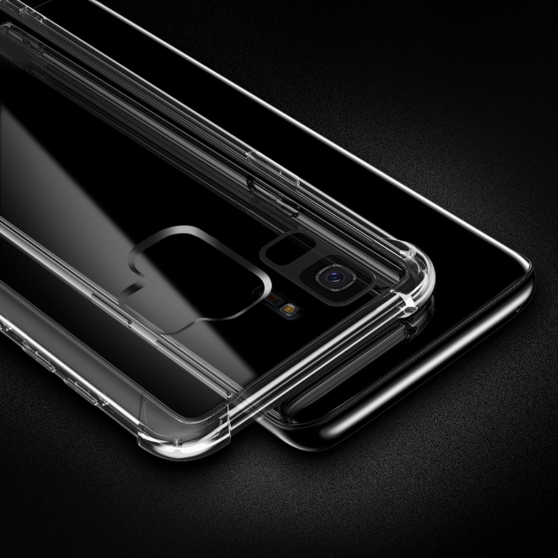 Clear ShockProof Soft Silicone Case For Samsung Galaxy S8 S9 S10 Plus 10E M10 M20 A6 A7 A8 Plus 2019 S6 S7 edge S10 Lite Cover  (5)