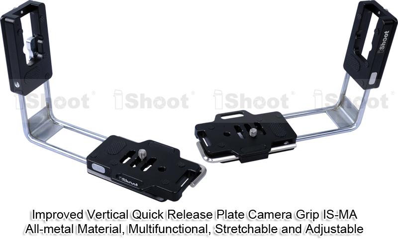 AFFVO montaje r/ápido, compatible con Arca Swiss Soporte de placa vertical para c/ámara