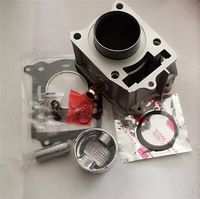 Cylinder kit,for,GY6125,with,piston,52,4mm,GY6150,57,6mm,pin,gasket,cylinder,set,with water cooling,125,150cc,chineese scooter