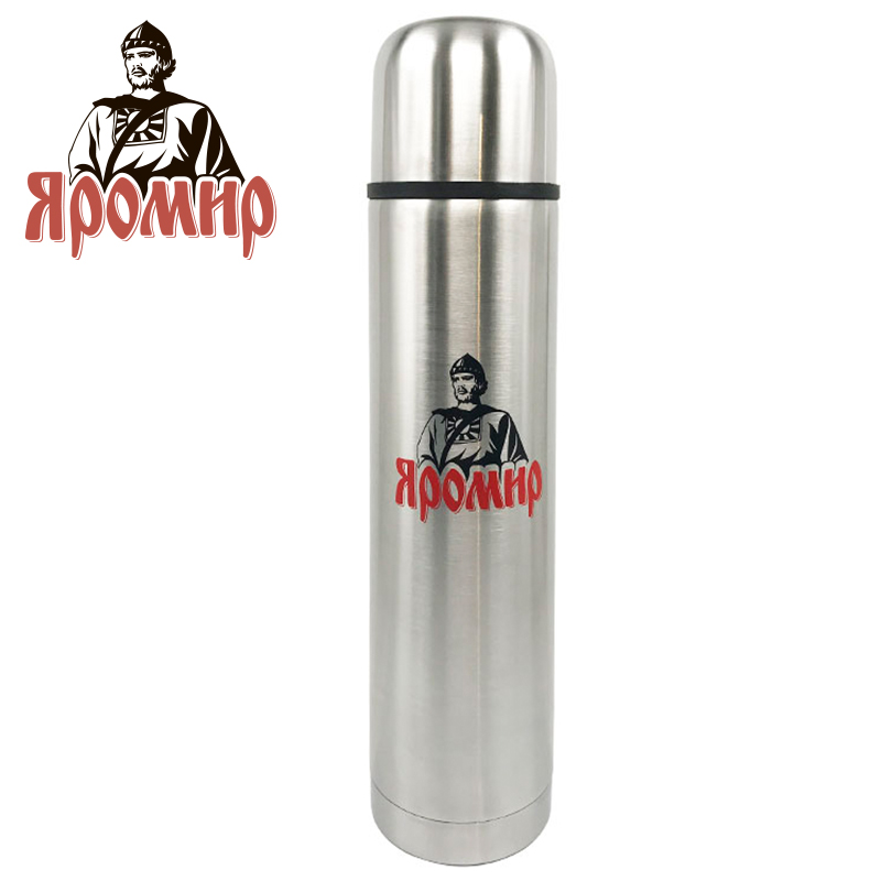 YAROMIR YAR-2011M Thermose 1000ml Vacuum Flask Thermose Travel Sports Climb Thermal Pot Insulated Vacuum Bottle Stainless Steel ryder n1005 outdoor dual layer stainless steel abs water bottle red 600ml