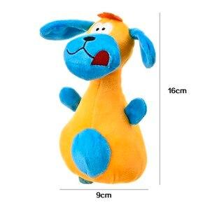 2 цвета, игрушки для питомцев, пищащие игрушки, PV флисовая Плюшевая собачка с большими ушами, звук, игрушка для собак, кошек, Exrecise игрушка 9x16см