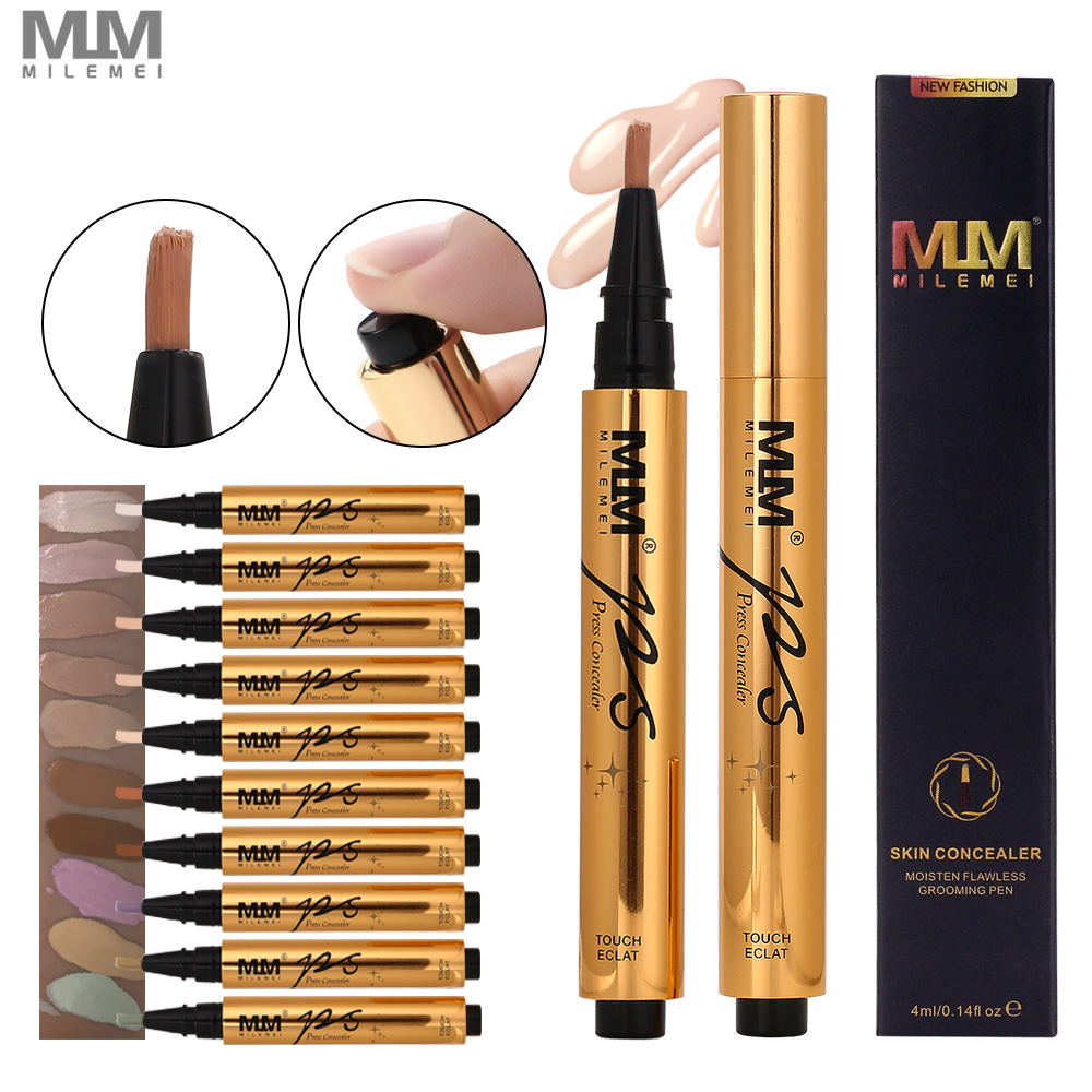 MILEMEI Liquid Concealer Full Cover Face Corrector Conceal Base Foundation Makeup Cover Maquillaje Makeup image