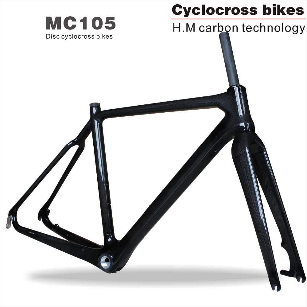 MIRACLE 700C Tapered tube Carbon cyclocross frame Disc brake Full Carbon Bike Frame 50cm Cyclocross Bicycle 2017 tapered tube carbon cyclocross frame disc di2 chinese carbon frames 31 6mm cx carbon cyclocross frame mc105
