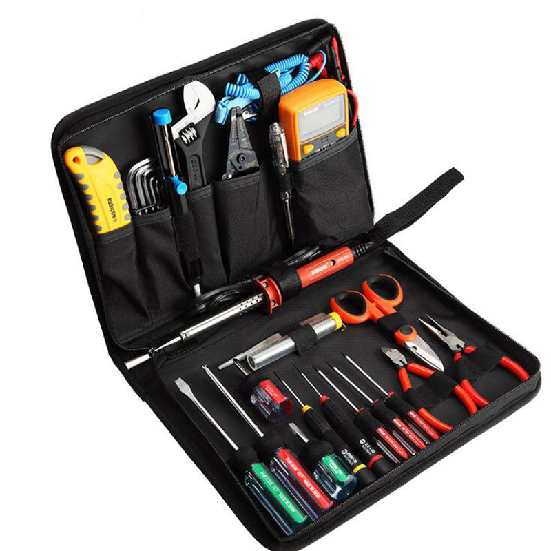29pcs Electronic Tools Set For Electronic Telecommunications Maintenance Multifunction Hand Tool Sets LCD Digital Multimeter