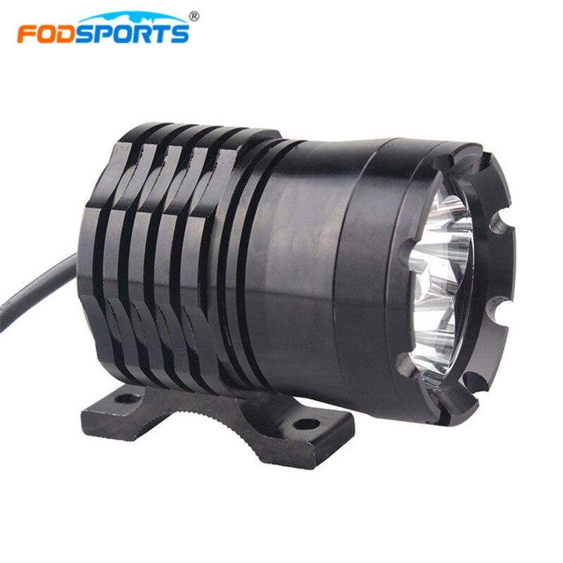 Fodsports One Pcs U21 40W 2980LM Motorbike Headlight Waterproof Motorcycle Strong LED Light External Lamp Fog Spot