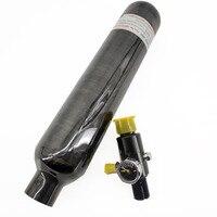 Ac30561 pcp rifle de ar 0.35l/0.5l 4500psi tanque mergulho cilindro alta pressão para mergulho para a força aérea oxigênio paintball regulador|Respiradores de fogo| |  -
