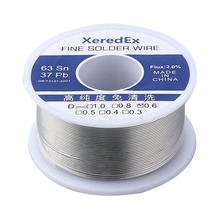 цена на XeredEx 0.6 0.8 1.0 mm 2% Flux Tin Lead Rosin Roll Core Silver Solder Wire Welding Soldering Repair Tool Reel Melt Kit 63% Sn