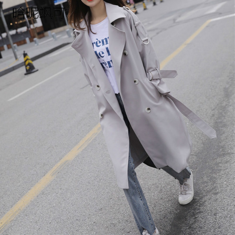 Elegant Loose   Trench   Coat Fashion Double Breasted Casual   Trench   Coat for Women Plus Size Roupas Feminina Raincoat Outerwear