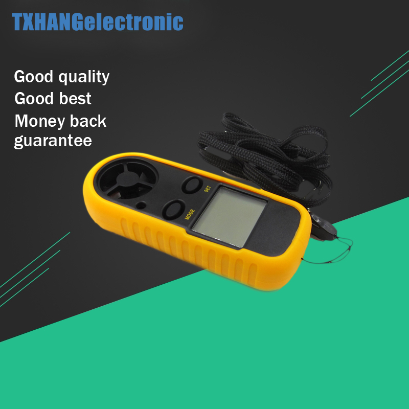 GM816 Mini Digital Anemometer 0-30m/s Wind Speed Meter -10~45C Temperature Tester Anemometro with LCD Backlight Display