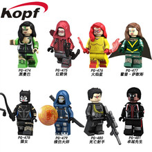 Single Sale Hope Deadpool 2 Super Hero Catwoman Red Arrow Deathshot Summers Mamba Firestar Building Blocks Kids Gift Toys PG8120