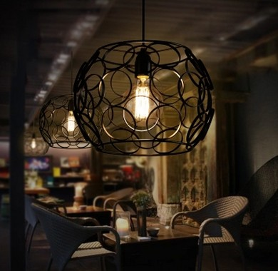 Nordic Loft Iron Art Circle Pendant Light Fixtures Edison Industrial Vintage Lighting For Living Dining Room Bar Hanging Lamp стоимость