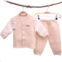 Warm Thick Infant Natural Organic Cotton Baby Clothes Set YJM206