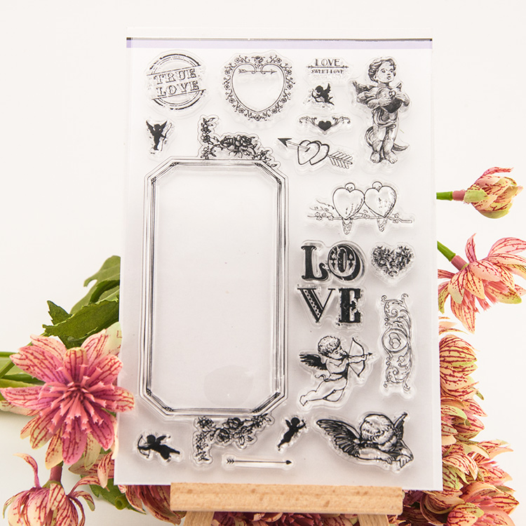 Cupid of love Transparent Clear Silicone Stamp/Seal DIY scrapbooking/photo album Decorative clear stamp sheets handwork gift angel and trees clear stamp variety of styles clear stamp for diy scrapbooking photo album wedding gift cl 163
