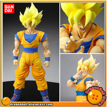 Japão Anime DRAGONBALL Dragon Ball Z/Kai Original BANDAI Tamashii Nations SHF/S. H. Figuarts Action figura-Son Goku Super Saiyan(China)