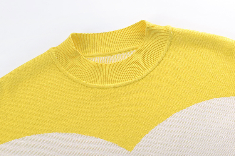 Arrivo Nuovo O Maglione Donne collo A Pullover Gy201859 Colore Allentato Giallo Di Gruiiceen Lavoro Autunno Sottile Maglia TRnWqqH