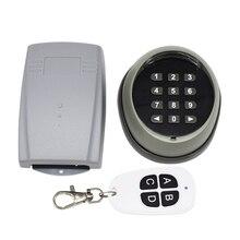 433,92 МГц управление доступом пароль многофункциональная беспроводная клавиатура гаражная дверь открывалка ворот передатчик 433 мгц приемник