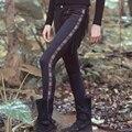 Aporia. , Как оригинальный дизайн весна осень женщины хиппи Boho старинные кисточкой тонкий замши брюки вышивка кожи искусственной кожи брюки