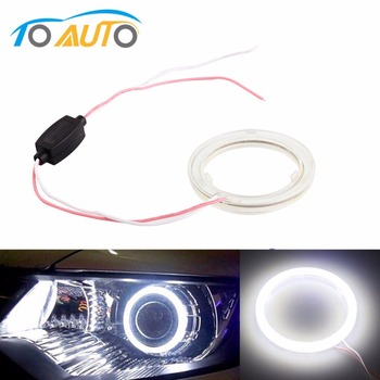 1pcs Auto angel eyes halo rings 6000k cob led headlight 60/70/80/90/100/110/120 mm Car Motorcycle For BMW E36 E39 E60 E92 E63 image