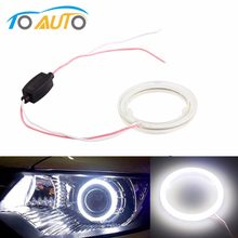 1pcs Auto angel eyes halo anelli 6000k cob led del faro 60/70/80/90/ 100/110/120mm Auto Moto Per BMW E36 E39 E60 E92 E63(China)