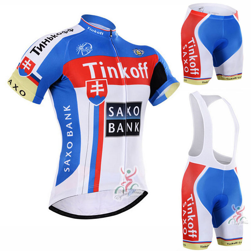 ФОТО 2016 Saxo Bank Tinkoff Cycling Clothing/Cycle Clothes Wear Ropa Ciclismo Cycling Sportswear/Racing Bike Clothes Cycling Jersey