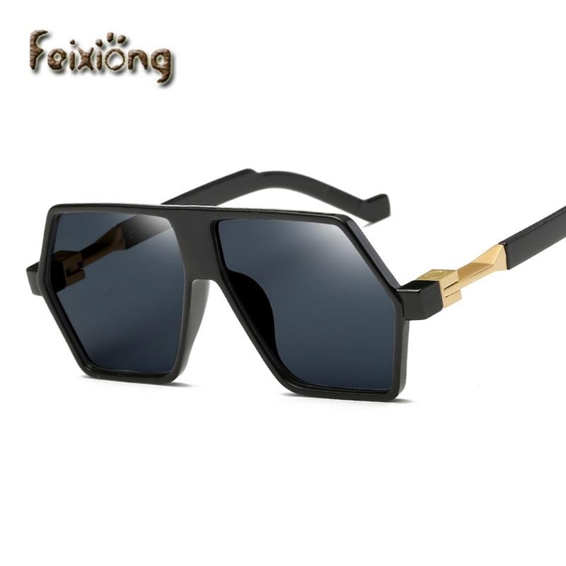 FEIXIONG trend women font b sunglasses b font individual oversized eyewear men coating sun glasses Irregular