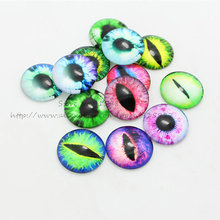Sweet Bell 25mm Mixed Life eyes Round Glass Cabochon Dome Jewelry Finding Fit Cameo Pendant Settings Embellishments 20pcs 9C1469