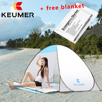 KEUMER Beach Tent 2 Persons Automatic Tent Camping Tent Instant Pop Up Open Anti UV Awning Tent Outdoor Sunshelter