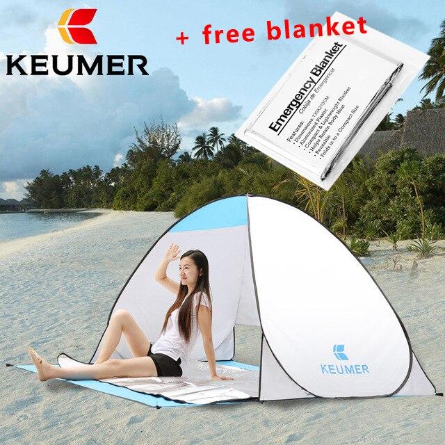 KEUMER Strand Zelt 2 Personen Automatische Zelt Camping Zelt Instant Pop Up Öffnen Anti UV Markise Zelt Outdoor Sunshelter