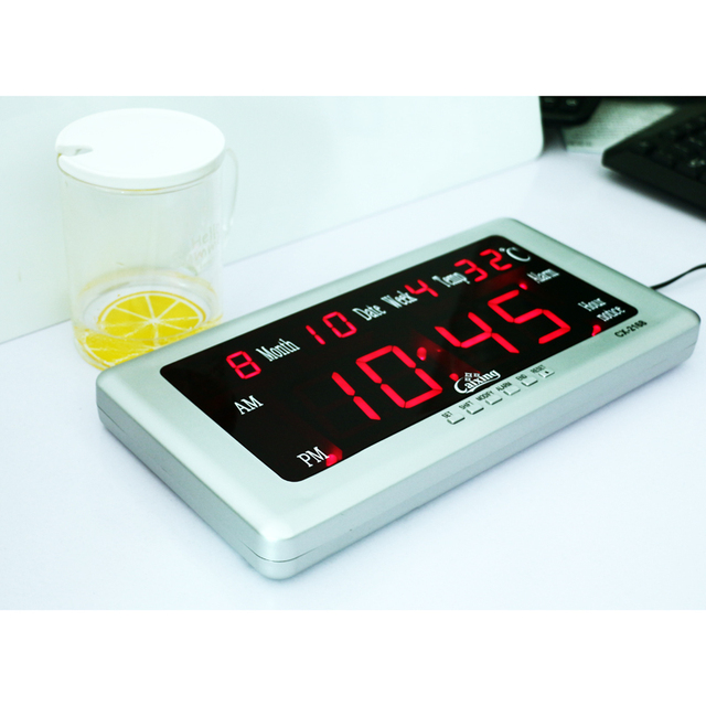 Large Led Digital Wall Clock With Calendar Temperature Date And Week