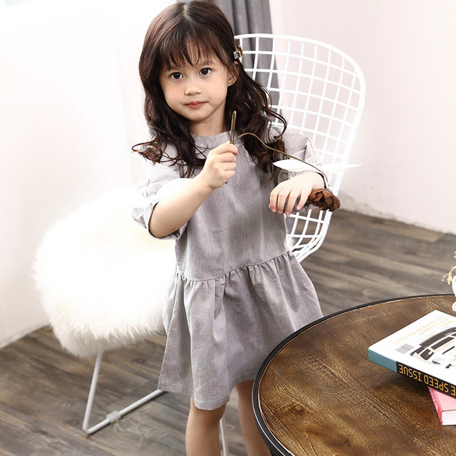 2019 Family Matching Outfits Mother White Dress Daughter Grey Dresses Father son T shirts Blouse Family Vacation Clothes D1 10 5
