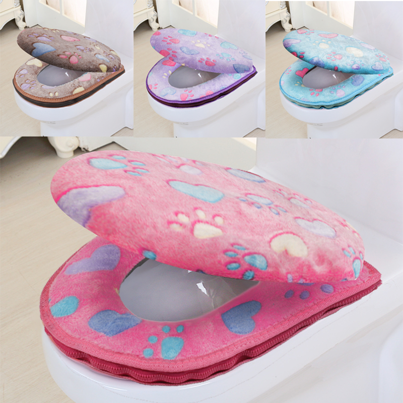 Bathroom Accessories Winter Toilet Seat Cover Warm Cover