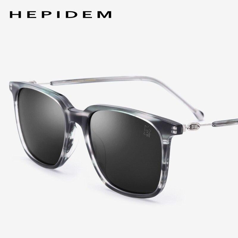 d97edbd6957 Acetate Sunglasses Men Polarized Brand Designer Fashion Square Mirror  Korean Sun Glasses for Women Screwless Eyewear