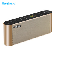 Bolso Moonliness Q8 Bluetooth Speaker Portátil Sem Fio Handsfree Speaker Subwoofer de Alta Fidelidade de Áudio Display Led Speaker com Mic