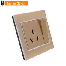 цены AU Standard Air Conditioning Electric Wall Socket Switch Panel Outlet Power Plug Base for Water Heater Panel Luxury Brushed Gold