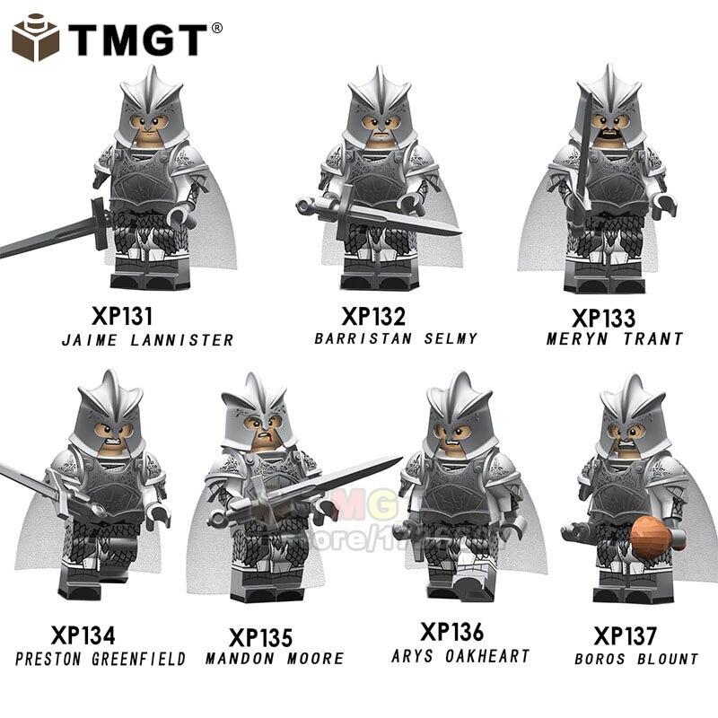 50PCS LOT Wholesale Game of Thrones Mandon Moore Barristan Meryn Boros Jaime Preston Building Blocks Toy