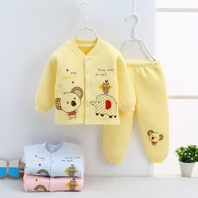 winter Baby Set Clothes Boy new Kids Girls Clothing Sets Newborn Cotton Pajamas Suit Baby warm Tracksuit Infant underwear Outfit cotton baby rompers set newborn clothes baby clothing boys girls cartoon jumpsuits long sleeve overalls coveralls autumn winter
