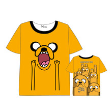 Anime Adventure Time with Finn and Jake t shirt Tops Unisex Cosplay  Short Sleeve Summer dress children T shirt 2018 adventure time with finn and jake logo wallets purse multi plastic leather w202
