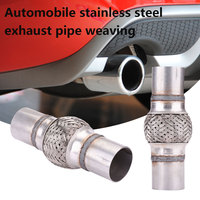 2 Inches Cars Stainless Steel Exhaust Flex Pipe W Ends Double Braid OAL 20008DN